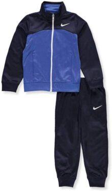 Nike - Juego de Chamarra y Pantalones Deportivos con Cierre, Color Antracita y Rojo