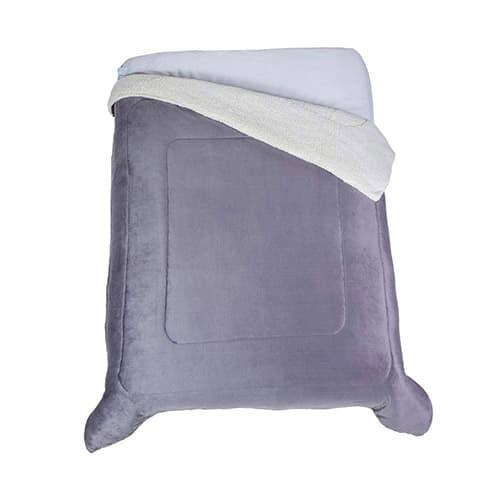 Colchas Concord CBOM0108 Cobertor Argos, Matrimonial/Individual, Gris