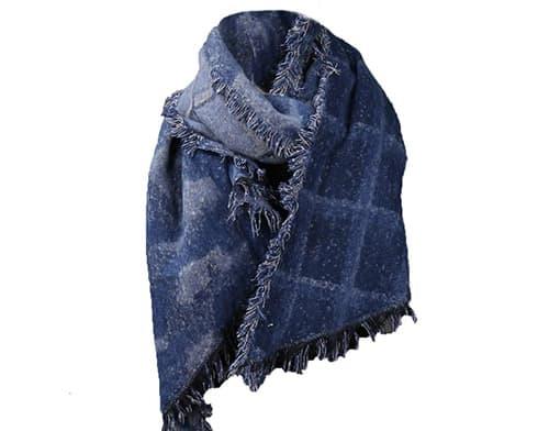 Bufanda de lana suave con ángulo biselado para pashminas y flecos para otoño e invierno