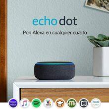 Echo Dot (3ra generación) - Bocina inteligente con Alexa, negro