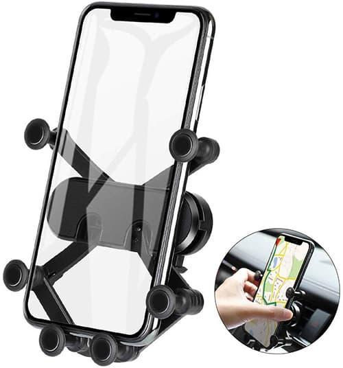 MEMUMI Universal Cellphone Car Air Vent Phone Holder Mount, Soporte de Celular para Auto, Soporte Magnético de Coche 360 Grados Giratorio Car Stand para iPhone XS MAX XR, para Xiaomi Huawei