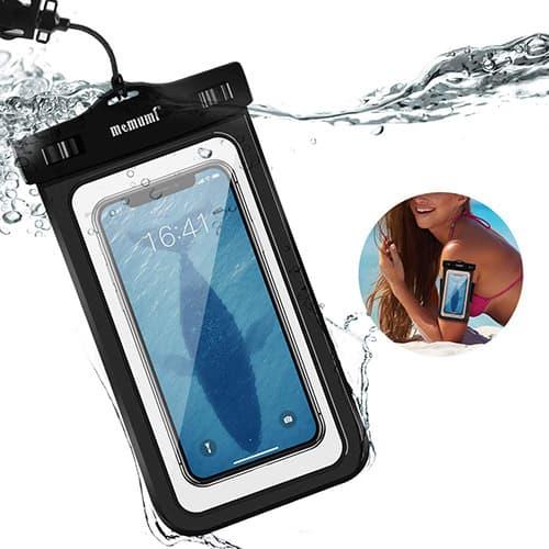 memumi Funda Impermeable Universal, Bolsa Estanca Movil Sumergible Compatible con iPhone X/XS/XS Max/11/11 Pro MAX Waterproof Phone Pouch y Más Celulares Soporte Desbloquear Huella Digital