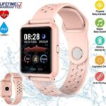 【2020 Nuevo】 Smartwatch, Pulsera Reloj inteligente,Reloj Inteligente Deportivo Impermeable IP67, 1.3 pulgadas IPS pantalla Táctil Completa, Cronómetro Podómetro Monitor de Calorías, Monitor de Ritmo cardíaco, Reloj Hombre Mujer para Xiaomi Huawei iPhone