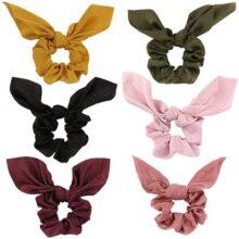 PUBAMALL Set de 6 Peinados satinados, Cintas para el Pelo de Terciopelo elástico Gomas para el Cabello para Mujeres o niñas Accesorios para el Cabello (6 Pack)