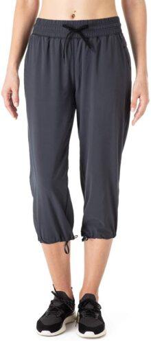 NAVISKIN Pantalones Casuales Protección UPF 50+ para Mujer Capri Pants Deportivos Pantalón Pirata Atlético Fitness Correr Térmico Chándal Deporte Yoga Running Entrenamiento