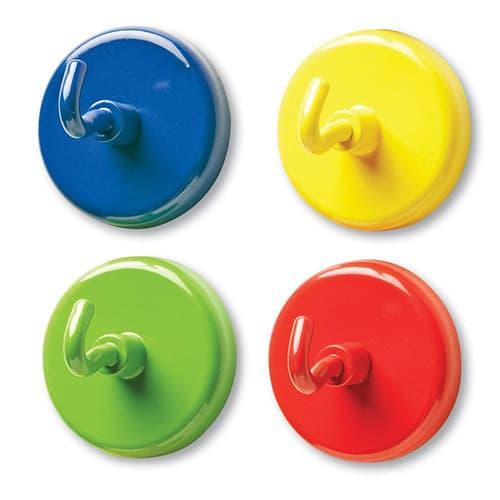 Learning Resources, Percheros magnéticos, colores variados, 4 pzs