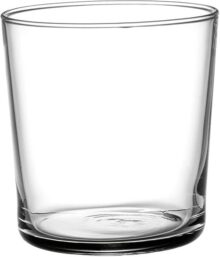 Bormioli Rocco Bodega Collection Glassware - Juego de 12 vasos medianos de 12 onzas para agua, bebidas y cócteles, vasos de vidrio templado transparente de 12 onzas