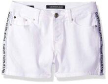 Calvin Klein - Pantalones Cortos de Mezclilla para niña