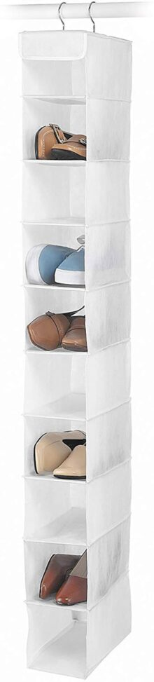 Whitmor 6044-112 White Crystal Collection Hanging Shoe Shelves, White