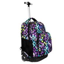 SQbags Mochila escolar con ruedas para Niña o Niño Confeti, Mango retráctil, asas, acolchada, organizador, bolsas laterales y base rígida