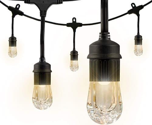 Tiras de luz led Enbrighten Café, 3.65m, 6 bombillas LED, 12 ft.