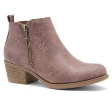 Shoe Land Ellaire - Botines de tacón para Mujer, Estilo Occidental, con Punta Cerrada, Informal, con tacón bajo