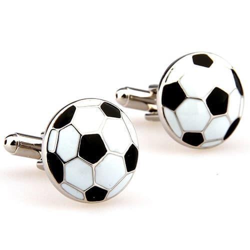 Mancuernillas o gemelos para hombre con diseño de balón de fútbol
