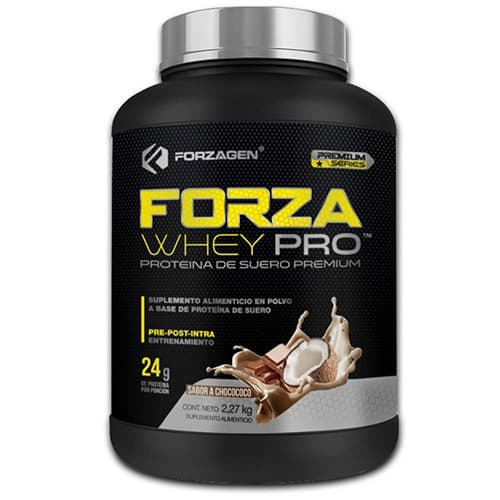 Forzagen Proteína de suero en polvo Forza Whey-Pro Premium Series 5 lb Choco Coco Suplemento Gym (***Nueva Imagen, Nueva Fórmula***)