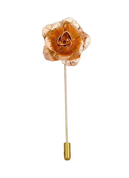 AN KINGPiiN Broche de Solapa para Hombre, diseño Ejecutivo de Rosa y Rosa Dorado con Broche para Traje de Camisa y Accesorios para Hombre