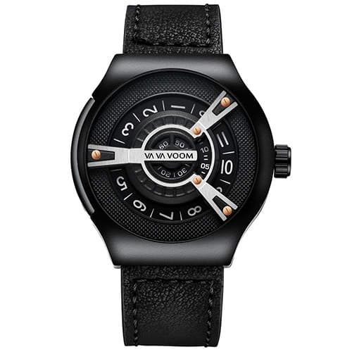 Aiml Reloj para hombre original moda personalidad casual negocios cuarzo impermeable reloj de regalo correa de cuero negro