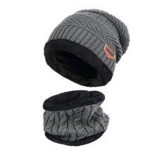 Ereach Gorros de Punto y Gorras con Bufanda de Invierno Unisex Conjunto de Bufanda Sombrero para Hombre Mujer y Niños de Invierno
