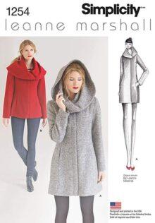 Simplicity 1254 Leanne Marshall - Patrones de Costura para Chaquetas y Abrigos para Mujer (Tallas 36 a 50)