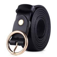 DORRISO Mujer Cinturón de Piel Vacuno Para Mujeres Con la hebilla del Pin de la Aleación Ocio Viajar Cinturón 105CM 110CM 115CM