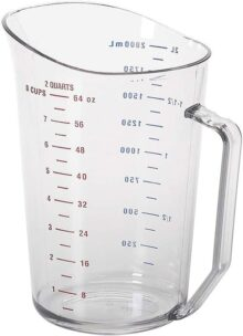 Camwear - Vaso medidor de policarbonato, Transparente, 1.9 litros