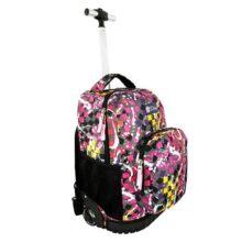SQbags Mochila escolar con ruedas para Niña Confeti, Mango retráctil, asas, acolchada, organizador, bolsas laterales y base rígida