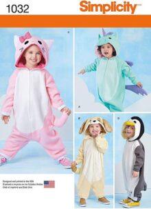 Simplicity Animal - Disfraz de Overol para niños con Patrones de Costura, Tallas 1/2 a 4