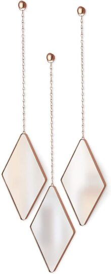 Umbra 358777-880 Mirrors Dima, Copper Set of 3