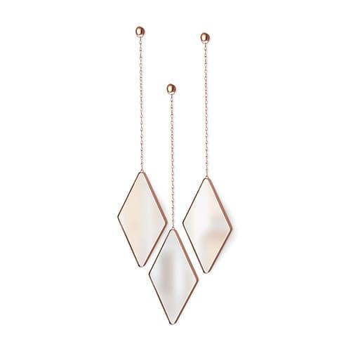 Umbra 358777-880 Mirrors Dima, Copper Set of 3