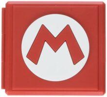 Estuche Premium para cartuchos de juego para Nintendo Switch - Estilo Símbolo 'M' Mario - PowerA