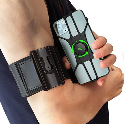 MEMUMI Brazalete para Celular Ajustable para Brazalete Sports Correa Celular Running Armband para iPhone 11/11 Pro MAX/Xiaomi/Samsung Equipado con Soporte para Llaves