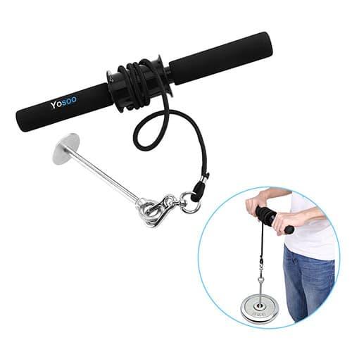 VBESTLIFE Ejercitador de Muñeca, Ejercitador de Antebrazo Antebrazo Hand Blaster Ripper Wrist Grip Roller Ejercitador Strength Rizador de muñeca para Ejercicio, Entrenamiento y Entrenamiento
