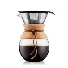 Bodum, Cafetera Pour Over con Filtro Permanente, Banda de Corcho, 34 Oz