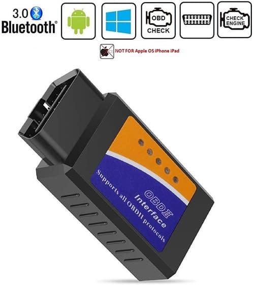 BANIGIPA Bluetooth OBD2 Scanner Auto OBD II Herramienta de escaneo de diagnóstico para Android, Lector de códigos de luz del Motor del Cheque, Soporta Torque Pro/Lite, No para iPhone