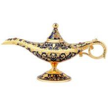 GLOGLOW Lámpara Retro, Leyenda Tallada deseando la lámpara de Aceite del pote del té Decoración del artículo Retro Decoración del Arte del hogar Coleccionable