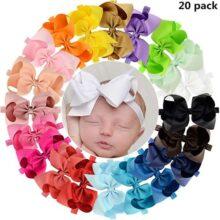 PUBAMALL diadema para bebé, cintas para niñas para recién nacidos, niños pequeños y niños (08)