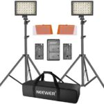 Neewer 2 Paquetes 160 LED Luz Regulable Ultra Alto Voltaje Panel Kit de Cámara Digital/Videocámara para Canon, Nikon, Sony y Otras Cámaras Digitales SLR