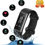 Kungix Pulsera Inteligente IP68 Impermeable Smartwatch, Pulsera Actividad Inteligente con Monitor Ritmo Cardíaco, Fotografía Remota y Monitoreo de Pasos para Hombres y Mujeres
