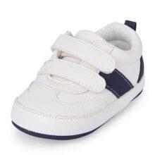 The Children's Place - Nbb Vlcr tenis Niños, unisex, Blanco, 0-3MOS Medium US Infant