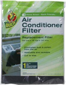 Duck Brand 284423Aire Acondicionado para ventana, sello de franja aislante, Filtro para aire acondicionado, 15-Inch by 24-Inch by 1/4-Inch, Negro