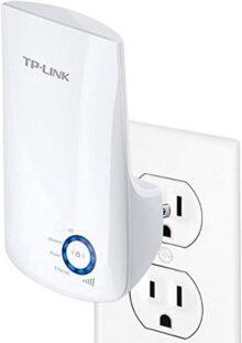 TP-LINK TL-WA850RE N300 Extensor universal de cobertura inalámbrica, enchufe de pared, tipo conecte y use (Plug&Play), puerto de Ethernet, luz indicador de señal inteligente