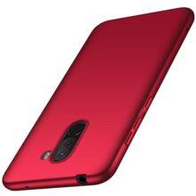 anccer Funda Xiaomi Pocophone F1, Alta Calidad Ultra Slim Anti-Rasguño y Resistente Huellas Dactilares Totalmente Protectora Caso de Duro Cover Case para Xiaomi Pocophone F1 (Rojo Liso)