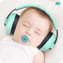 Mumba Auriculares con cancelación de ruido para bebés con protección auditiva para bebés y niños pequeños - Mumba Baby Earmuffs - Edades de 3-24 meses - para dormir, estudiar, aviones, conciertos, películas, teatro, fuegos artificiales