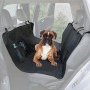 BDK PS-152 Funda de Asiento de Coche para Perro de Viaje Universal Oxford Negro Impermeable Protector para Sedan, camión y SUV (Bench-Premium)