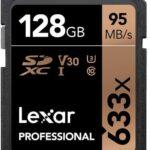 Lexar Professional Memoria SD 633x 128GB SDXC UHS-I LSD128GCB1NL633