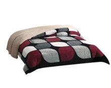 Colchas Concord CBOK0066 Cobertor de Borrega Córdoba, King, Vino
