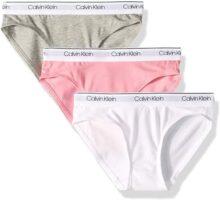 Calvin Klein Ropa Interior Moderna de algodón para niñas pequeñas