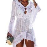 Bsubseach Mujer Traje de Baño Croché Vestido de Playa Cubrir Bikini Camisola y Pareos