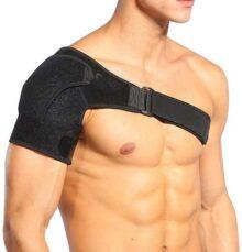 DOACT Hombrera Ajustable, Apoyo de Hombro de Neopreno Transpirable, con Pressurized Hombrera para Prevención y Recuperación de Lesiones Deportivas, Hombre/Mujer(L)