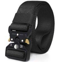 Cinturón Táctico Militar Ajustable Cintura Hombres Lona Nylon Hebilla de Metal para Entrenamiento de Caza Ejército Que se Ejecuta