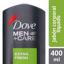 Dove Jabón Líquido Corporal Men+Care Extra Fresh, 400 ml